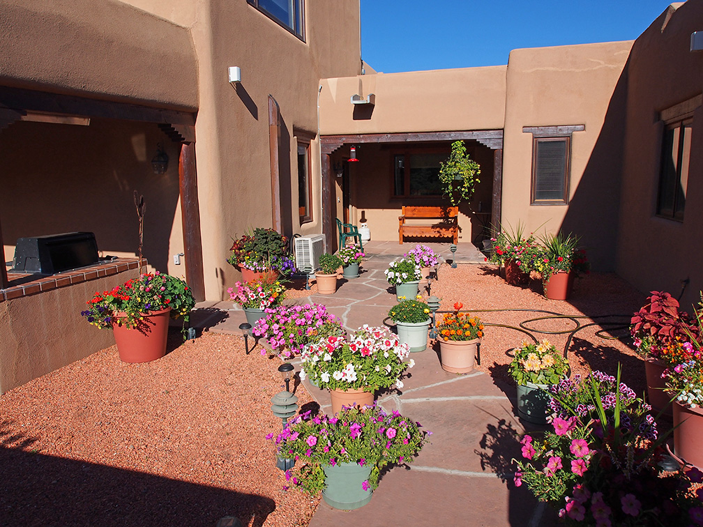 Taos exclusive dream home for sale Courtyard